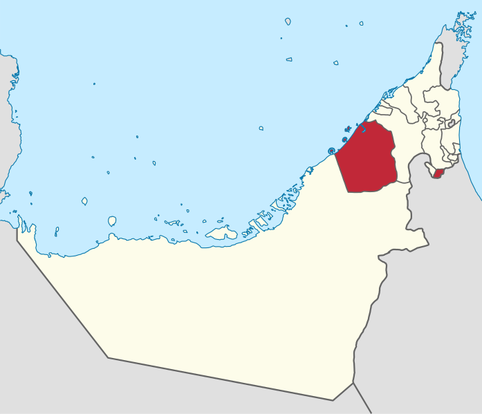 The location of Dubai in United Arab Emirates is highlighted in the