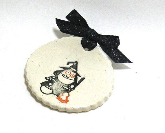 Spoon Rest / Tea Bag Rest  Halloween Witches Brew by IrihanaArts