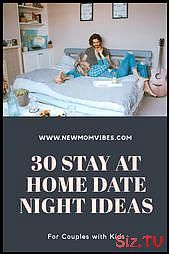 30 Stay-At-Home Date Night Ideas for Couples with Kids,  #Couples #date #Ideas #Kids #materni…
