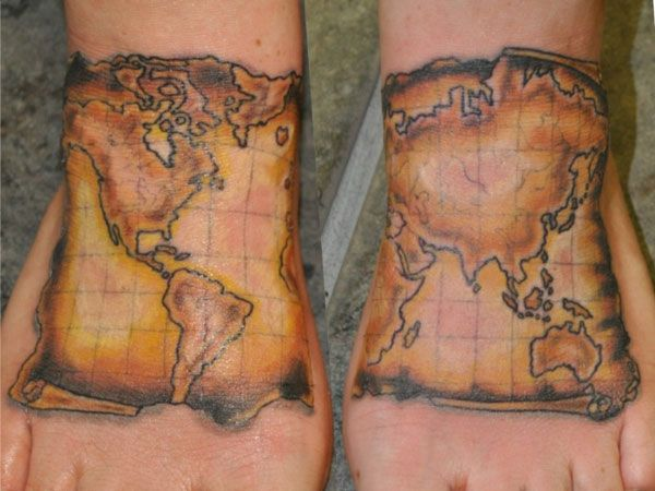 As the feet travel round the world it seems appropriate to get as the feet travel round the world it seems appropriate to get them inked with this gumiabroncs Image collections