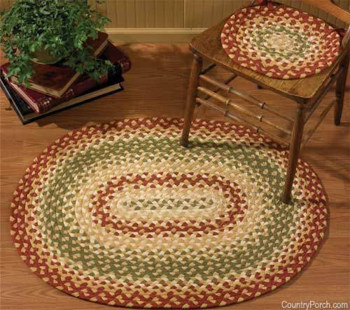 Mill Village Braided Chairpad Oval Braided Rugs Braided Rug Diy Braided Rugs