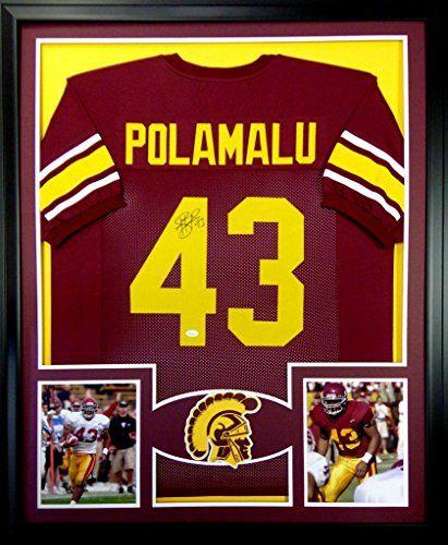 3bf68db4a3f Troy Polamalu Framed Jersey Signed JSA COA Autographed USC Trojans Mister  Mancave http://