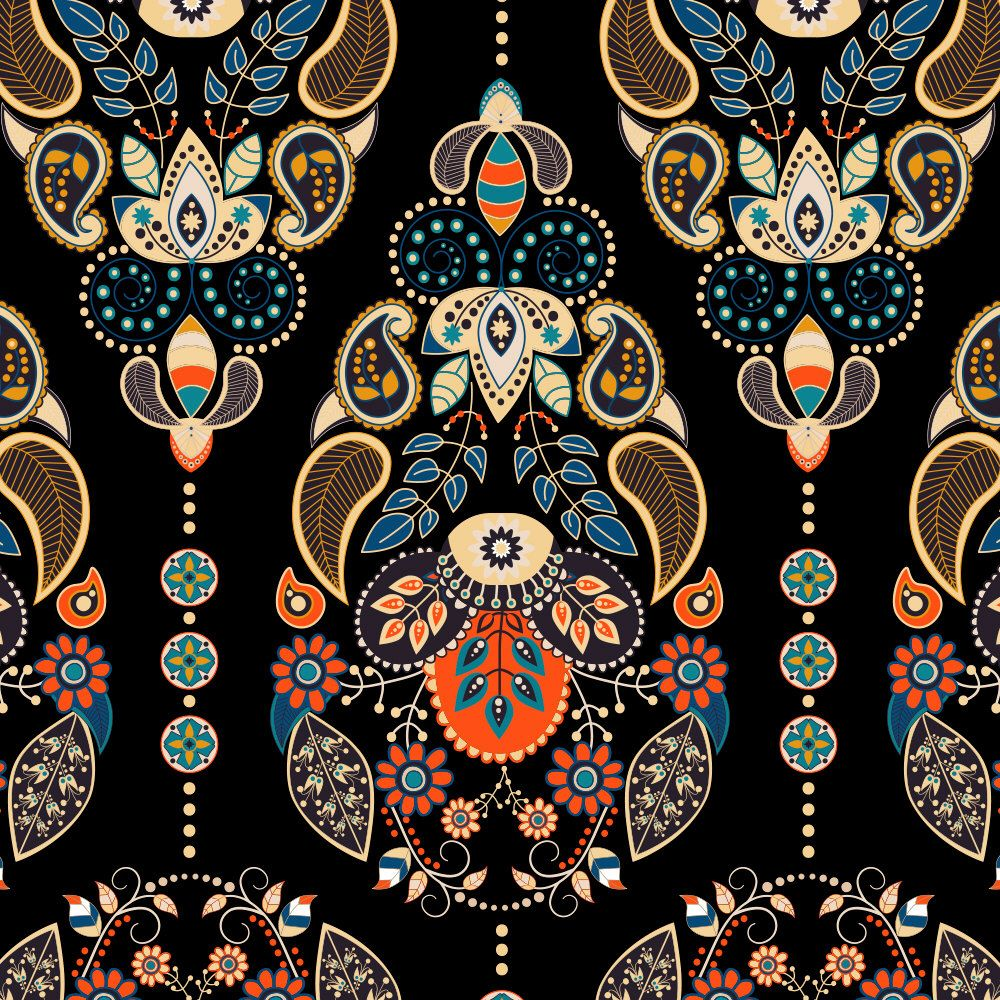 Boho Chic Paisley Peel and Stick Wallpaper Peel and