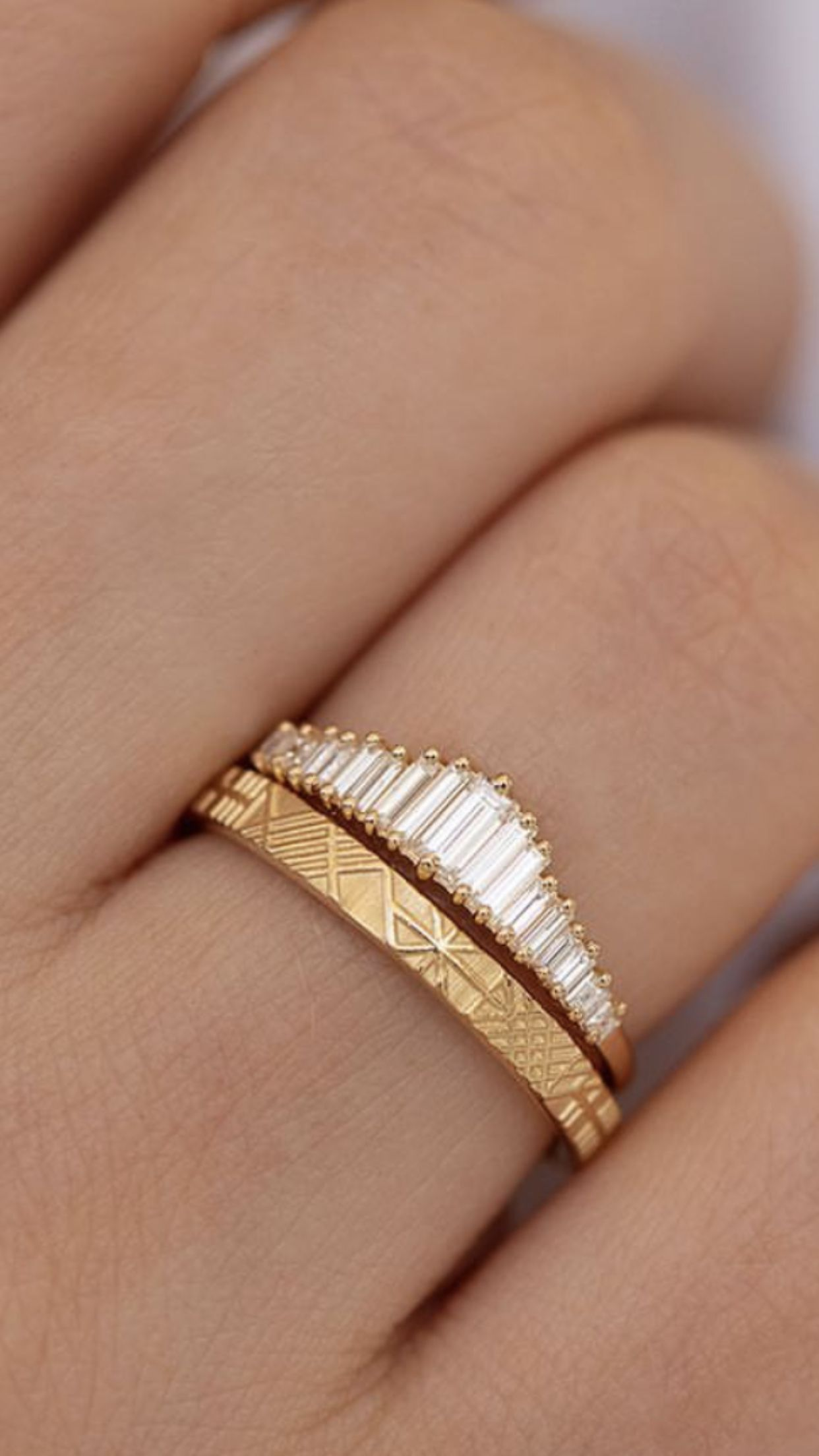 Photo of Diamond Baguette and Gold Rings – Diamond Baguette and Gold Rings – #Artdecojewe …