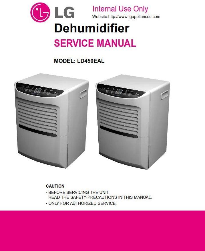LG LD450EAL Dehumidifier Original Service, Repair And
