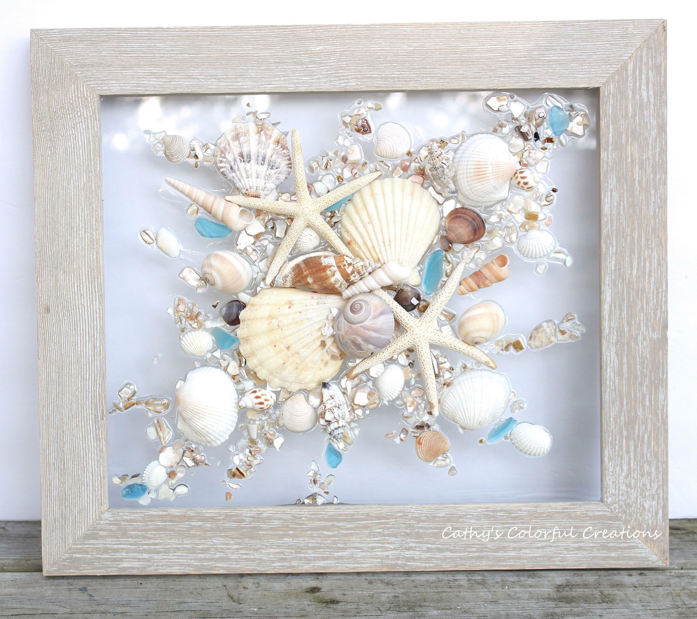 Beach Art, Shell Art, Beach Abstract, Sea Shell Art, Beach Resin Art, Beach Window, Seaglass Window, Beach Glass, Beach Glass Window, Beach,  #Abstract #Art #Beach #Beachglassjewelryseashells #Glass #Resin #Sea #Seaglass #shell #Window