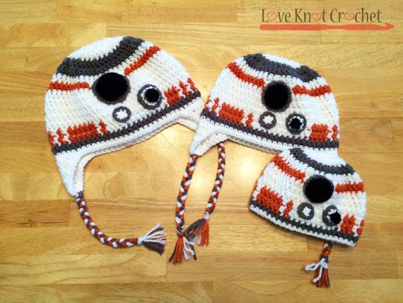 Star Wars Bb 8 Inspired Crochet Hat Pattern Crochet Hatscarves