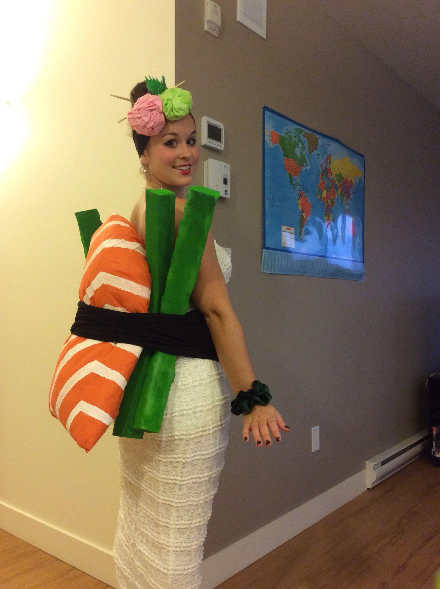 Super easy diy sushi sashimi costume sushi costume pinte super easy diy sushi sashimi costume more solutioingenieria Image collections