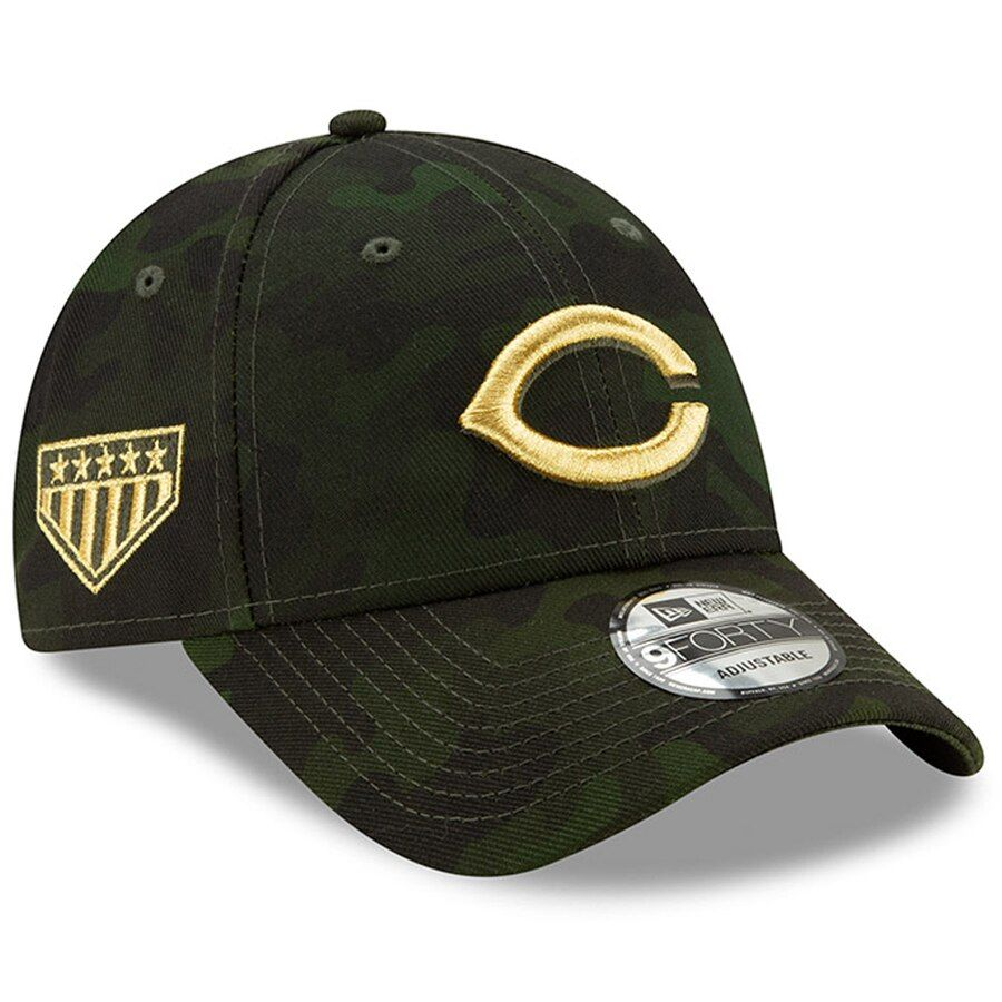 the best attitude 45587 45820 Cincinnati Reds New Era 2019 MLB Armed Forces Day 9FORTY Adjustable Hat -  Camo,