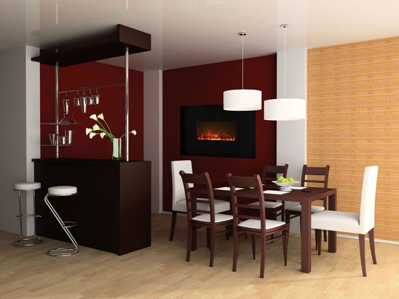 Electric fireplace by Modern Flames, a hot trend at this year\u0027s - wohnzimmer farblich gestalten