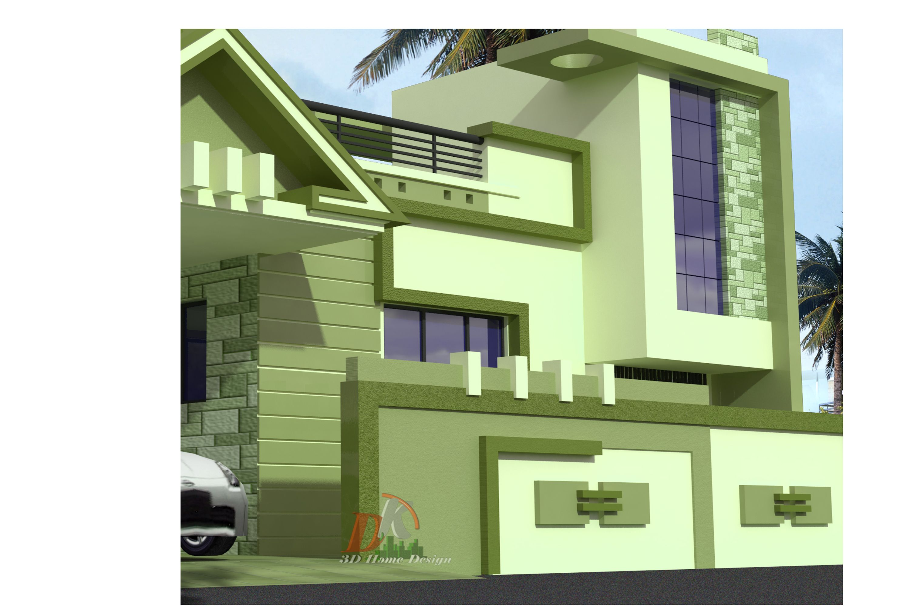 3d Home Bungalow 3d Design By D K 3d Home Design Awesome House Design