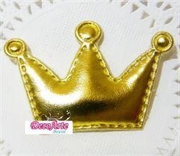 Aplique Coroa Dourada - Pct com 1