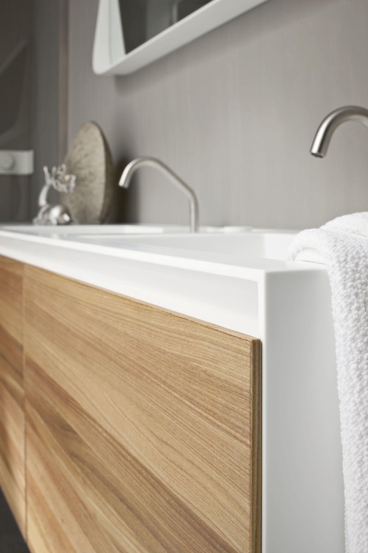 mobile lavabo sospeso in corian con ante mobile lavabo doppio collezione ergonomic by