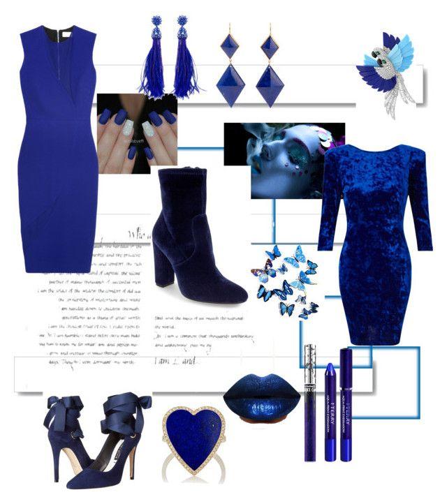 """#Dress,Blue&Blue"" by daphurqueen0809 ❤ liked on Polyvore featuring White Label, LASplash, MAC Cosmetics, By Terry, Arca, Miss Selfridge, Steve Madden, Victoria Beckham, Marie Hélène de Taillac and Oscar de la Renta"