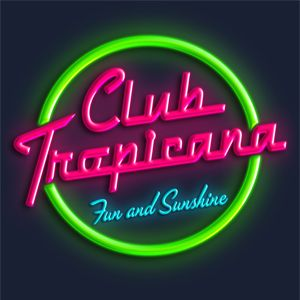 Club tropicana t shirt inspired by the classic 80s track for Classic club music