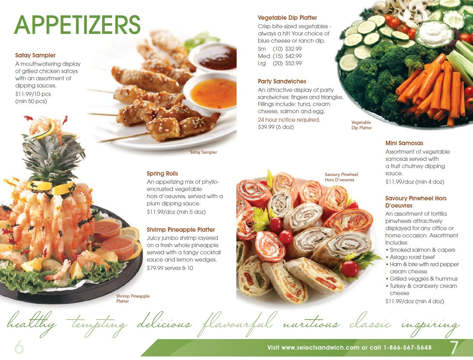 Select Sandwich Catering Menu #4 | Food Collection | Pinterest ...