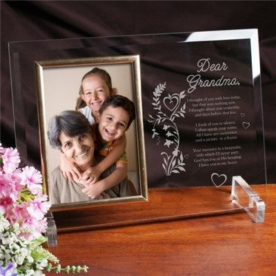Your Memory Is A Keepsake Personalized Beveled Glass Picture Frame