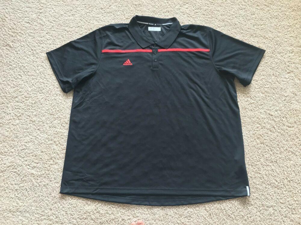 NEW Adidas Climalite Performance golf polo shirt 4XL Black