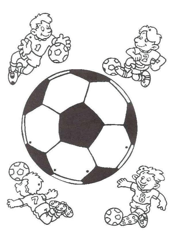 Quatang Gallery- Kleurplaat Voetbal 6816 Kleurplaten Voetbal Knutselen Voetbal Knutselen Sport