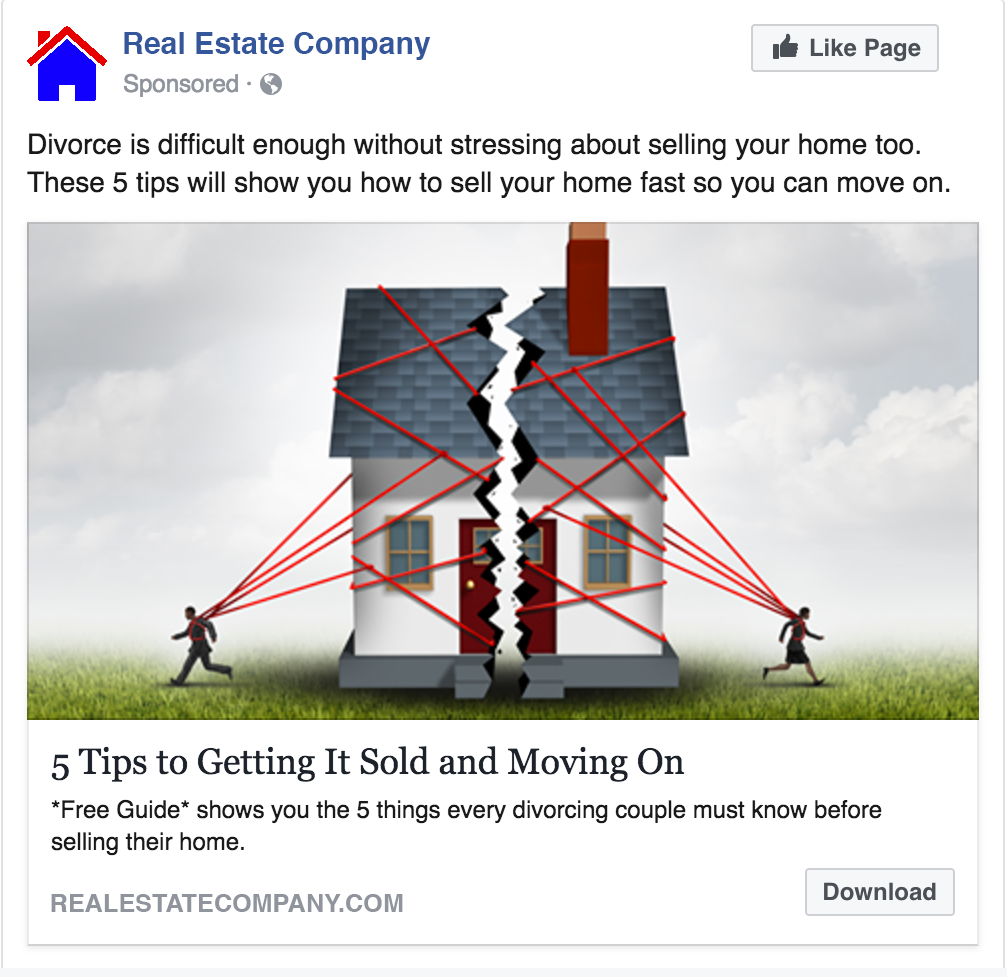 Use These Simple Real Estate Divorce Ads To Land More Listings From Facebook Easy Agent Pro Divorce Advice Divorce Help Divorce