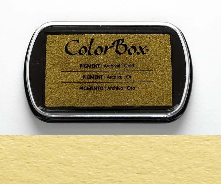 Stempelkissen ColorBox Gold goldfarben von frau zwerg auf DaWanda.com