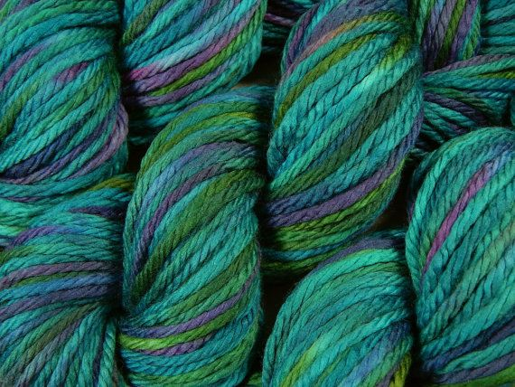 bulky merino Merino yarn green yarn bulky weight yarn superwash merino yarn chunky yarn green 100/% Merino Emerald Bulky Yarn