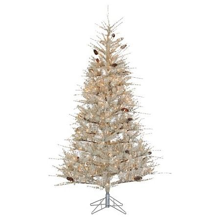 7ft pre lit artificial christmas tree frosted sage clear lights target - Target Christmas Tree Lights