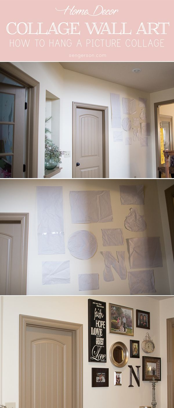 How to Hang Wall Art and Picture Collage | Pinterest ...