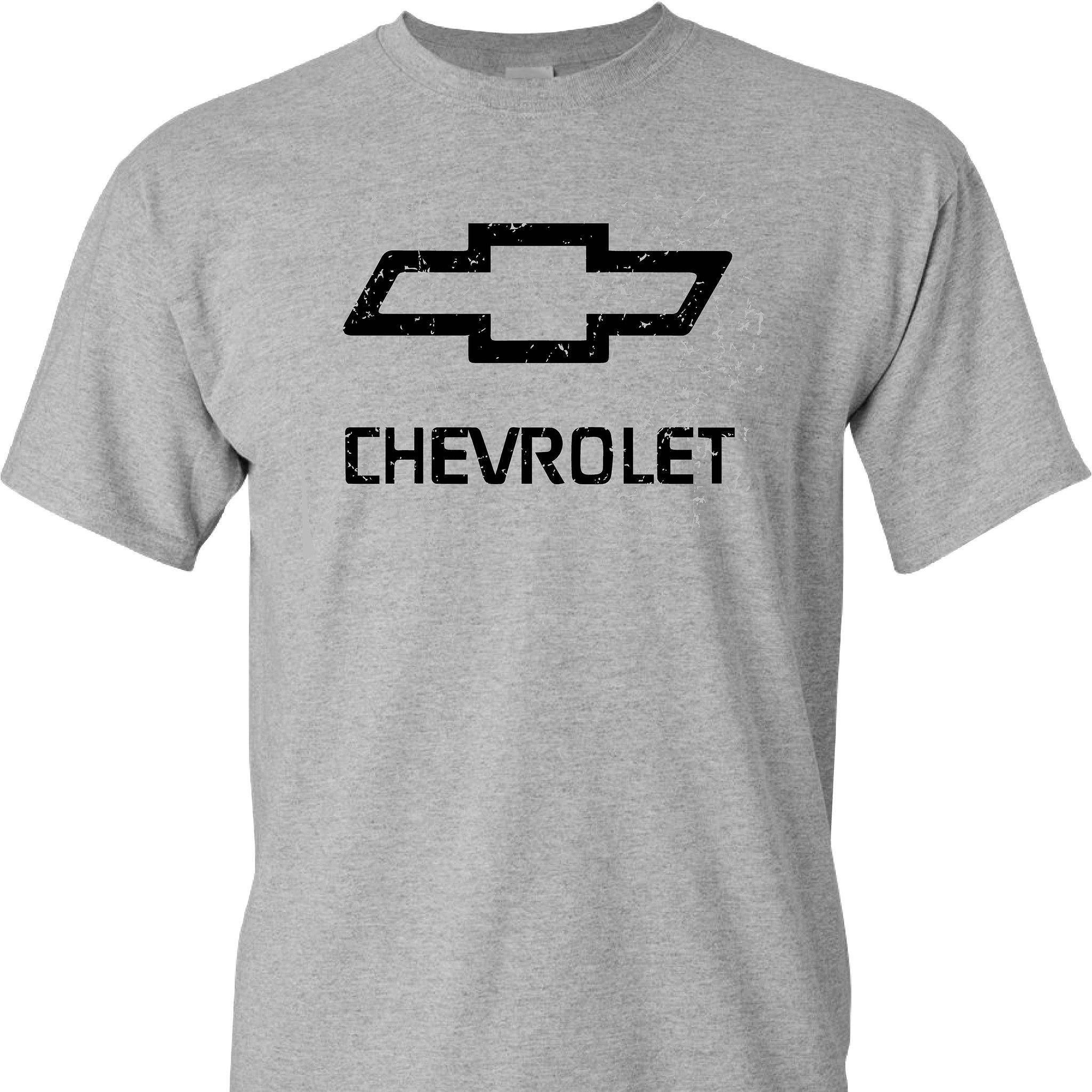 Chevy Chevrolet Logo Distressed Vintage Print On A Sport S Grey T Shirt Sports Shirts Shirts T Shirt