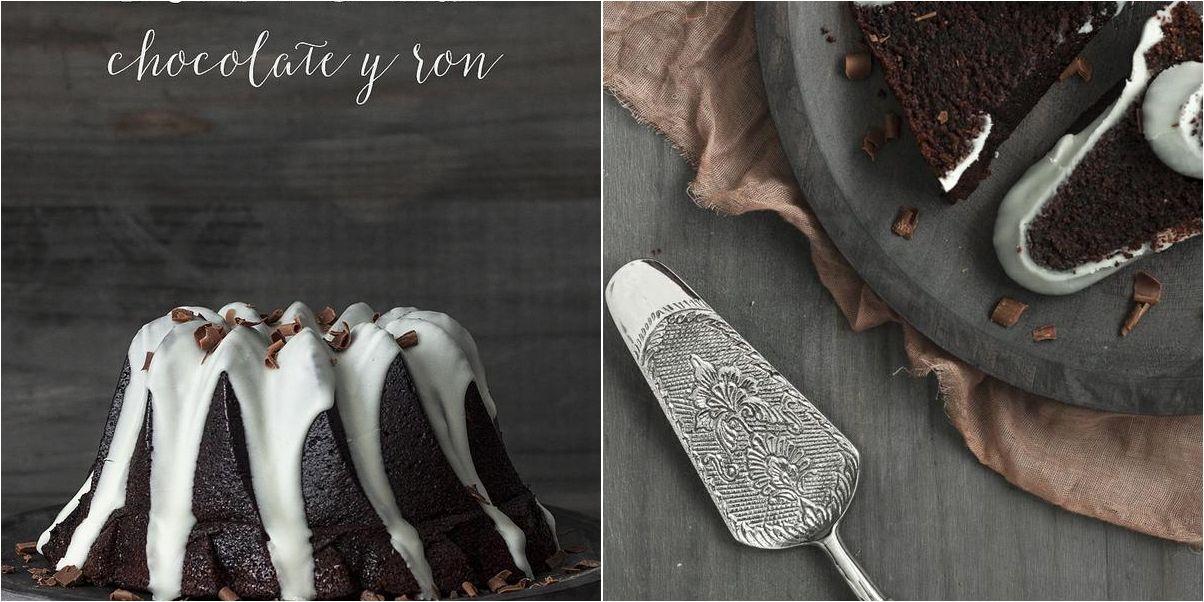Bundt cake de chocolate y ron