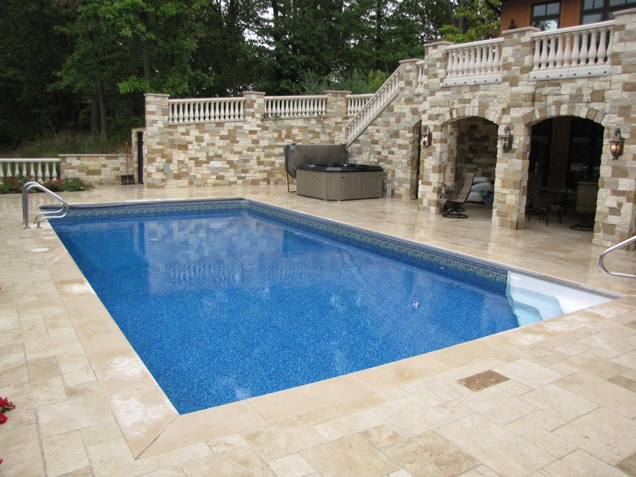 Pool Liner Designs For Inground Pools inground pools royal swimming pools swimming pool kits and more Swiming Pools Vinyl Pool Liners That Look Like Gunite With Marble Inlay Crystal Pool Liner Also
