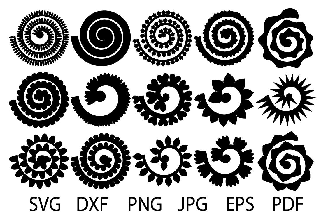 Rolled Paper Flower Templates Svg 3d Rose Svg Or Flower