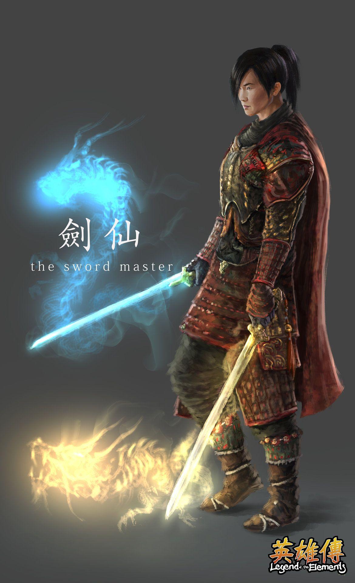 ArtStation - The Sword Master (Legend of the Elements), Sam Leung