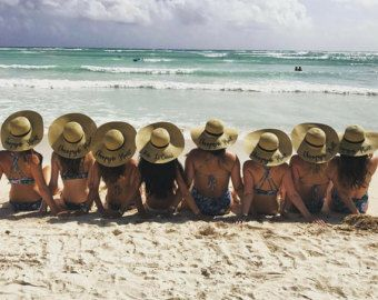 Sombrero de playa de nombre sombrero paquete del por HatsByOlivia ... 89588364730