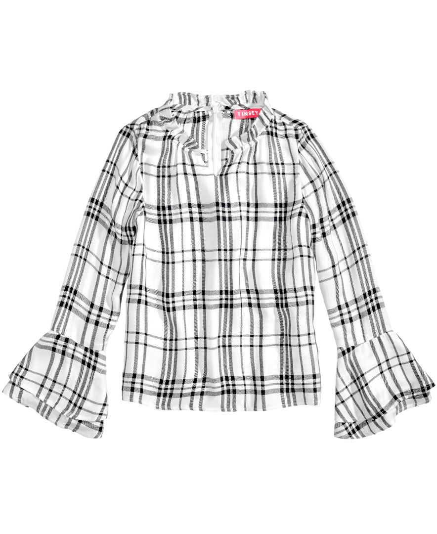Flannel shirt for girls  Tinsey BellSleeve Plaid Shirt Big Girls   Products