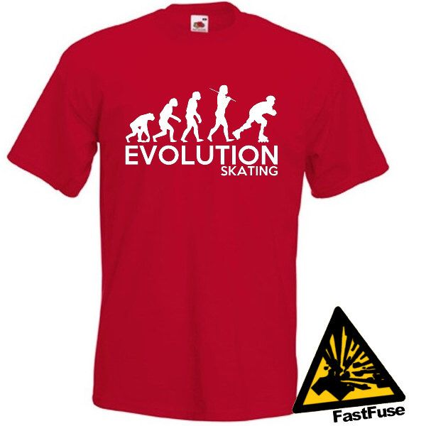 Evolution Of Man From Ape To Skating T Shirt Joke Funny Tee T Etsy Order T Shirts Zombie T Shirt Cycling T Shirts