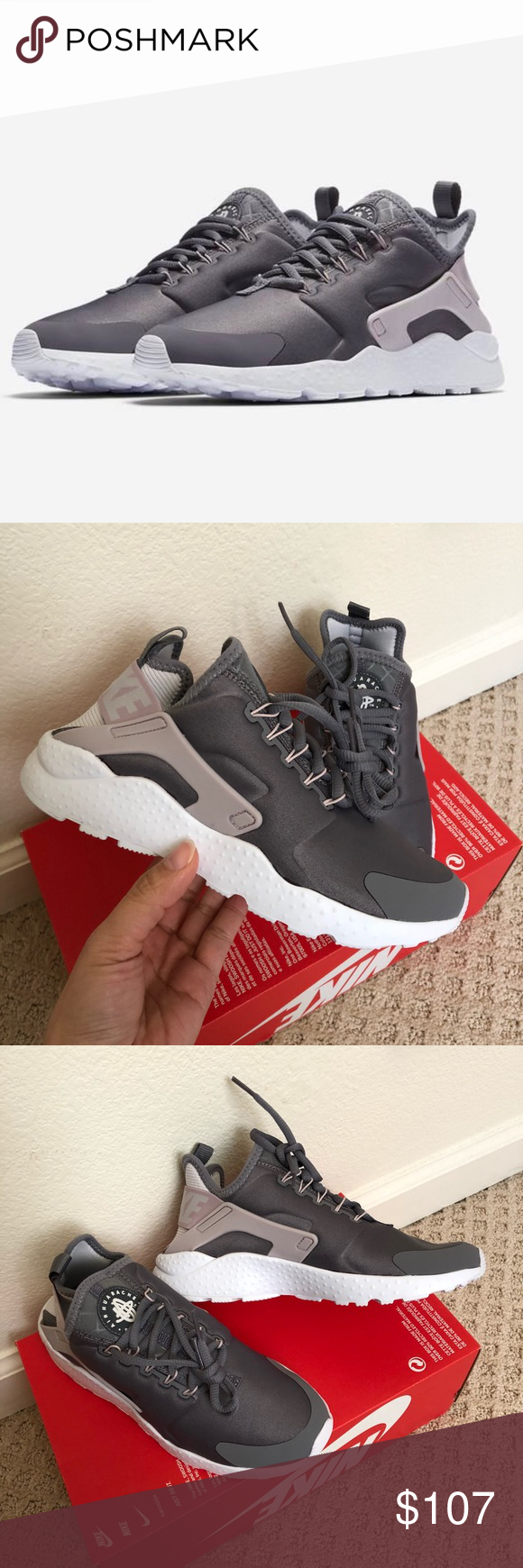 83be3570d14c 🌧New🌧 NIKE Air Huarache Run Ultra ~ 9.5 brand new no lid size 9.5 gunsmoke  vast grey comes from smoke free home 100% authentic A180000062 Nike Shoes  ...