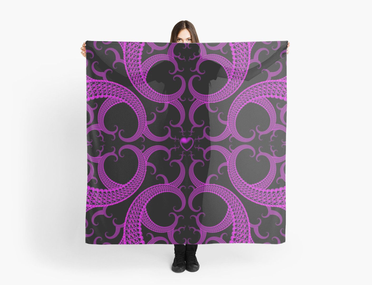 Purple and Black Goth Scarf