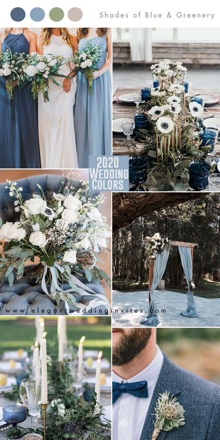 Top 10 Wedding Color Trends to Inspire in 2020 -   19 wedding Colors blue ideas
