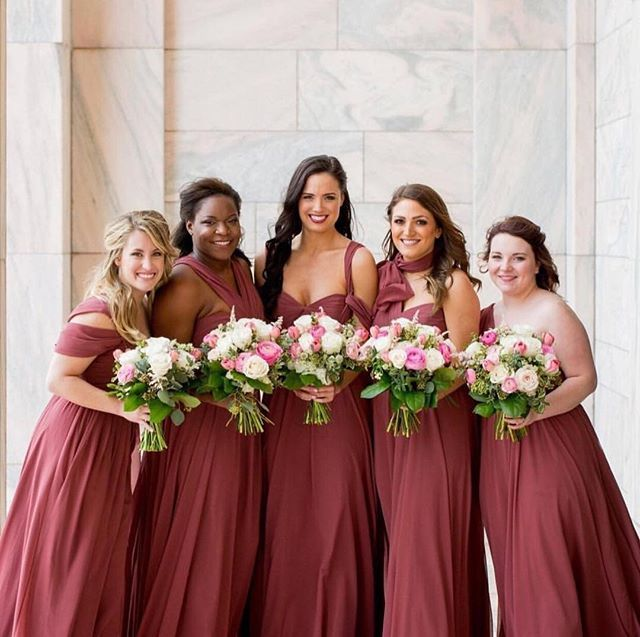 41f374e0440 Jenny Yoo Collection • BRIDESMAID • Our  Mira  dress shown in Cinnamon Rose  • Convertible and Personalized Bridesmaid Dresses    photo by  christianoth