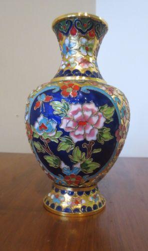 Vintage Chinese Cloisonne Vase Brass Ebay My Ebay Pinterest