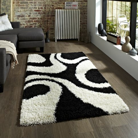 Vista Oriental Carpets And Rugs Use Our Contact Details On The Website For Sizes And Prices Http Www Aworldoffurni White Shag Rug White Rug Black White Rug