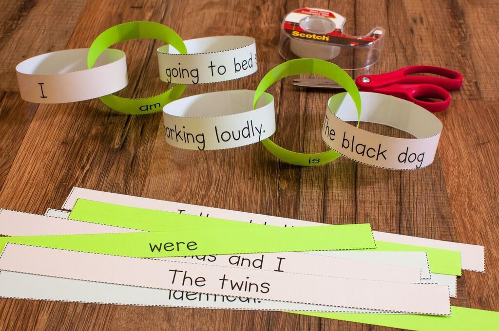 Create A Linking Verb Chain To Teach About Linking Verbs  Rd