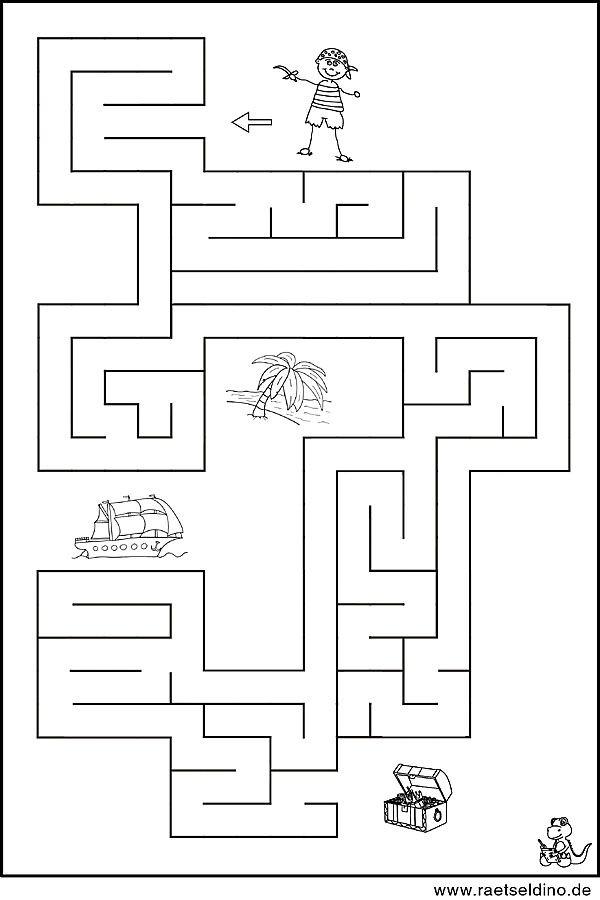Labyrinth Vorlage mit dem kleinen Pirat | kalózos játék | Pinterest ...