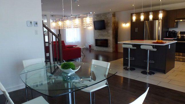 photo cynthia aire ouverte salle manger cuisine et salon aire ouverte pinterest. Black Bedroom Furniture Sets. Home Design Ideas