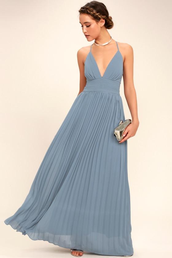 47++ Dusty blue maxi dress info