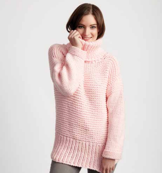 Chunky Turtleneck Easy Sweater Pattern Patterns Easy And Knit