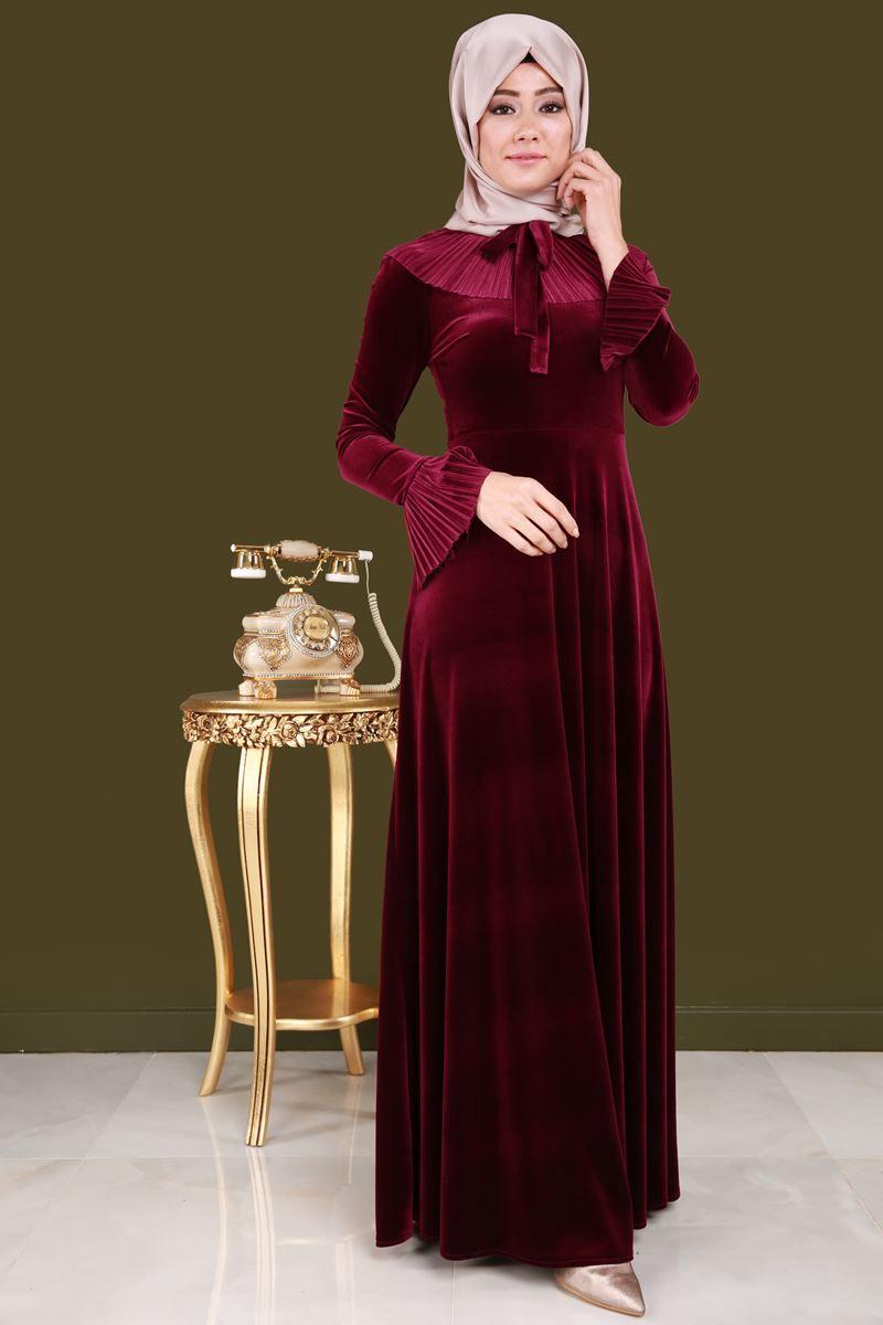 En Yeniler Fularli Kadife Elbise Bordo Urun Kodu Mm2036 129 90 Tl Moda Kiyafetler Kadin Giyim Resmi Elbise