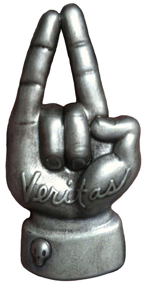 Veritas Pin: Hand of Truth | Gary Baseman