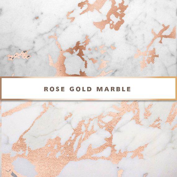 Rose Gold Marble Digital Paper Rose Gold Digital Paper Rose Gold
